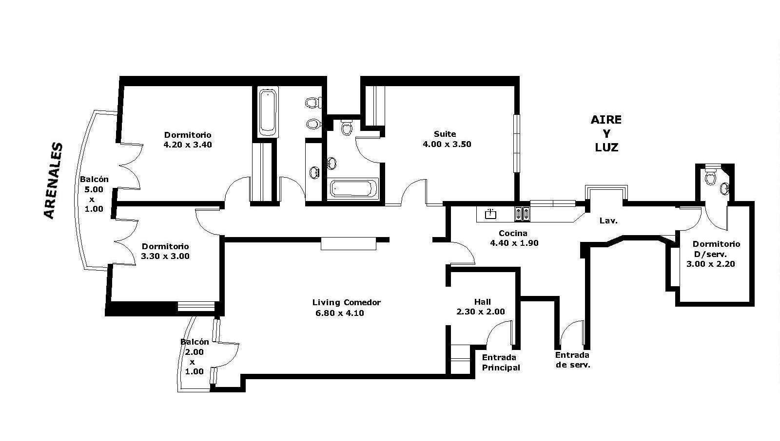 Departamento amoblado de tres dormitorios en recoleta 3 Departamento 3 habitaciones