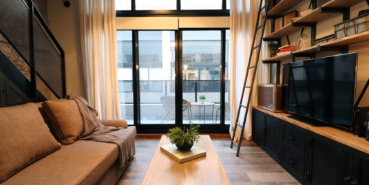 """San Telmo 1 bedroom Loft Apartment with amenities in building """"La Editorial"""""""
